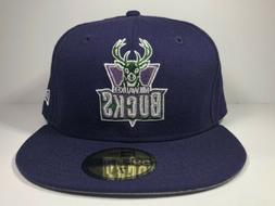 Milwaukee Bucks New Era Fitted 7 5/8 59Fifty Cap Hat NBA Bas