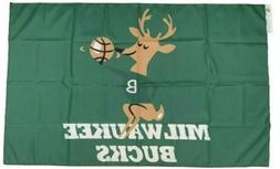 Milwaukee Bucks FLAG 3X5 Banner American Basketball Brand Ne