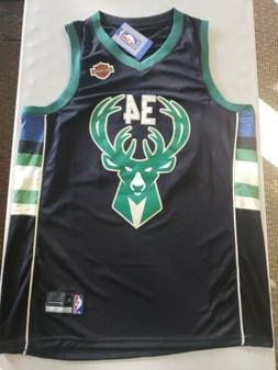 Milwaukee bucks Giannis Antetokounmpo Black Jersey XL