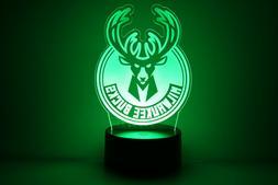 Milwaukee Bucks Giannis Antetokounmpo Pau Gasol LED Lamp Hom
