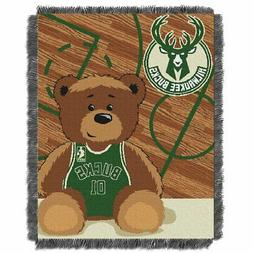 Milwaukee Bucks Half-Court Baby Woven Jacquard Throw Blanket