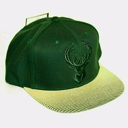 Milwaukee Bucks Hat One Size 7 to 7-3/4 NBA Cap Flat Rubberi