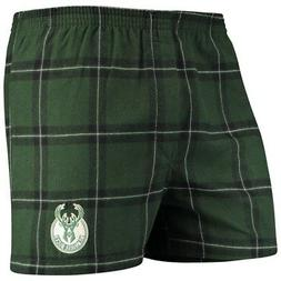 Milwaukee Bucks Concepts Sport Homestretch Flannel Boxer Sho