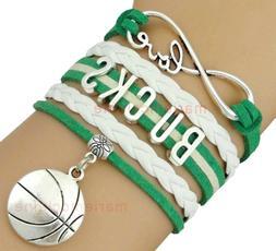 Milwaukee Bucks Infinity Jewelry Bracelet NBA Basketball Cha