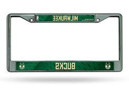 Milwaukee Bucks LBL Chrome Frame Metal License Plate Tag Cov