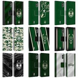 NBA MILWAUKEE BUCKS LEATHER BOOK WALLET CASE COVER FOR APPLE