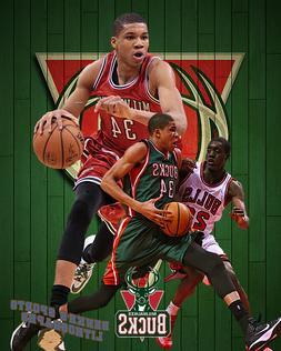 Milwaukee Bucks  Lithograph print of Giannis Antetokounmpo