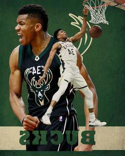 Milwaukee Bucks  Lithograph print of Giannis Antetokounmpo 8