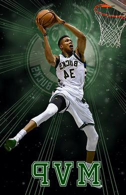 Milwaukee Bucks  Lithograph print of Giannis Antetokounmpo 1