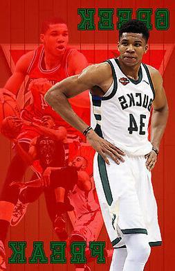Milwaukee Bucks Lithograph print of Giannis Antetokounmpo Re