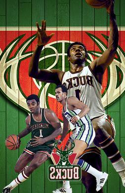 Milwaukee Bucks  Lithograph print of Oscar Robertson 11 x 17