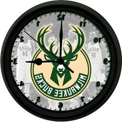 Milwaukee Bucks LOGO, 8in. Unique Homemade Wall Clock, Batte