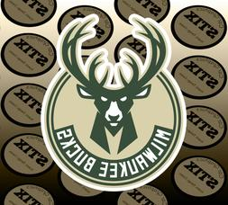 Milwaukee Bucks Logo NBA Die Cut Vinyl Sticker Car Window Ho