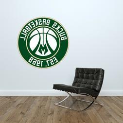 Milwaukee Bucks Logo Wall Decal Basketball NBA Decor Sport V