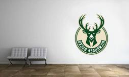 Milwaukee Bucks Logo Wall Decal NBA Basketball Decor Sport M
