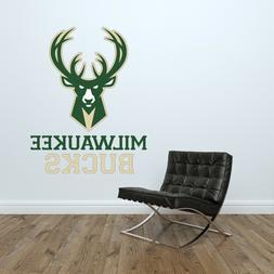 Milwaukee Bucks Logo Wall Decal NBA Basketball Decor Sport V