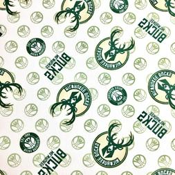 Milwaukee Bucks Logos Toss Cotton Fabric FQ