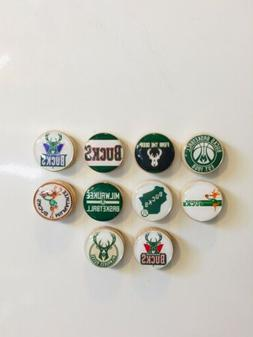 Milwaukee Bucks Magnets - Set Of 10 - FREE SHIPPING