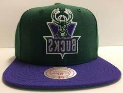 Milwaukee Bucks Mitchell & Ness NBA Snapback Hat Cap Hardwoo