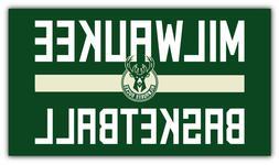 "Milwaukee Bucks  NBA Basketball Car Bumper Sticker Decal ""SI"
