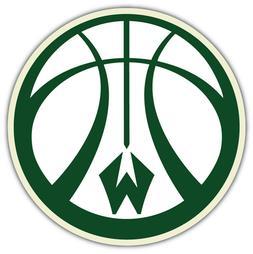 "Milwaukee Bucks NBA Basketball Car Bumper Sticker Decal ""SIZ"