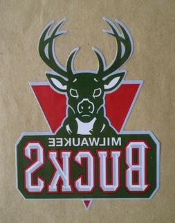 Milwaukee Bucks NBA Basketball Decal Stickers Team Logo Desi