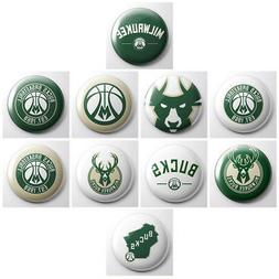 MILWAUKEE BUCKS - NBA basketball pinback buttons - sports te