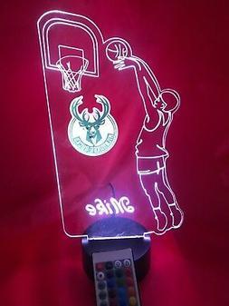 Milwaukee Bucks NBA Basketball Player Light Up Lamp LED Remo