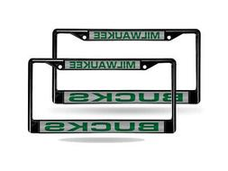 Milwaukee Bucks NBA Black Metal  Laser Cut License Plate Fra