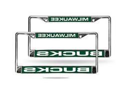 Milwaukee Bucks NBA Chrome Metal  Laser Cut License Plate Fr