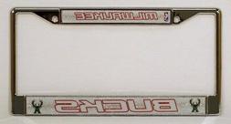 Milwaukee Bucks NBA Glitter Bling Chrome License Plate Frame