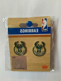 Milwaukee Bucks NBA Silver Post Stud Earrings Charm Logo