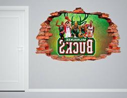 Milwaukee Bucks NBA Wall Decal Living Room Or Room 3D Wall P