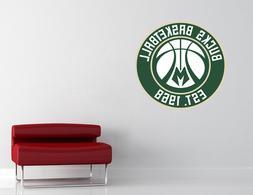 Milwaukee Bucks NBA Wall Decal Vinyl Sticker Room Decor EXTR
