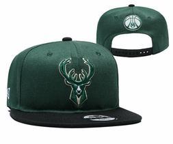 Milwaukee Bucks New Era Team Logo 9FIFTY Adjustable Snap Bac