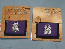 MILWAUKEE BUCKS   Nylon I.D. CARD CASE with KEYRING  Lot of