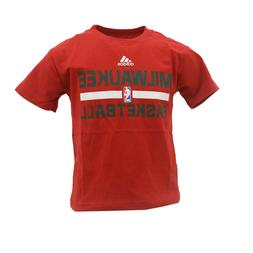 Milwaukee Bucks Official NBA Adidas Youth Kids Size T-Shirt