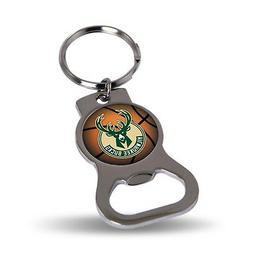 Milwaukee Bucks Premium Bottle Opener Key Chain Decal Emblem