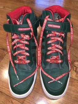 Milwaukee Bucks Retro Green & Red Adidas Shoes Bucks Laces &