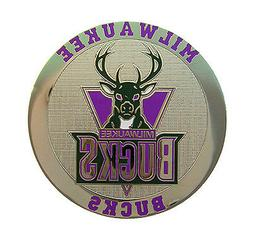 Milwaukee Bucks Round Metal NBA Logo Magnet