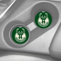 MILWAUKEE BUCKS SANDSTONE CAR COASTERS ABSORBS SET  NBA BASK