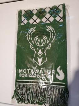Milwaukee Bucks Scarf Green And White Brand New