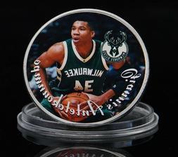 Milwaukee Bucks Silver Medal Coins Giannis Antetokounmpo Bas
