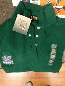 Milwaukee Bucks size M classic retro polo shirt