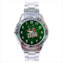 Milwaukee Bucks Stainless Steel Watches - NBA Basketball