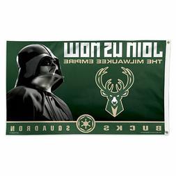 Milwaukee Bucks Star Wars Darth Vader Large Outdoor Flag