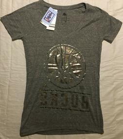 Milwaukee Bucks T-Shirt WOMEN'S Small NEW w/Tags Adidas NBA