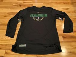 Nike Milwaukee Bucks Team-Issued Long Sleeve Practice Shirt