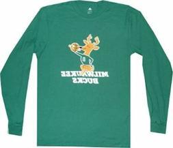 Milwaukee Bucks Throwback Adidas Long Sleeve Shirt Throwback