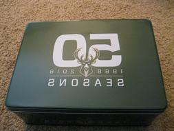 Milwaukee Bucks Tin Box 50th Anniversary 2017 Season Ticket